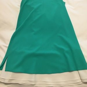 Seafoam/Teal and White Dress